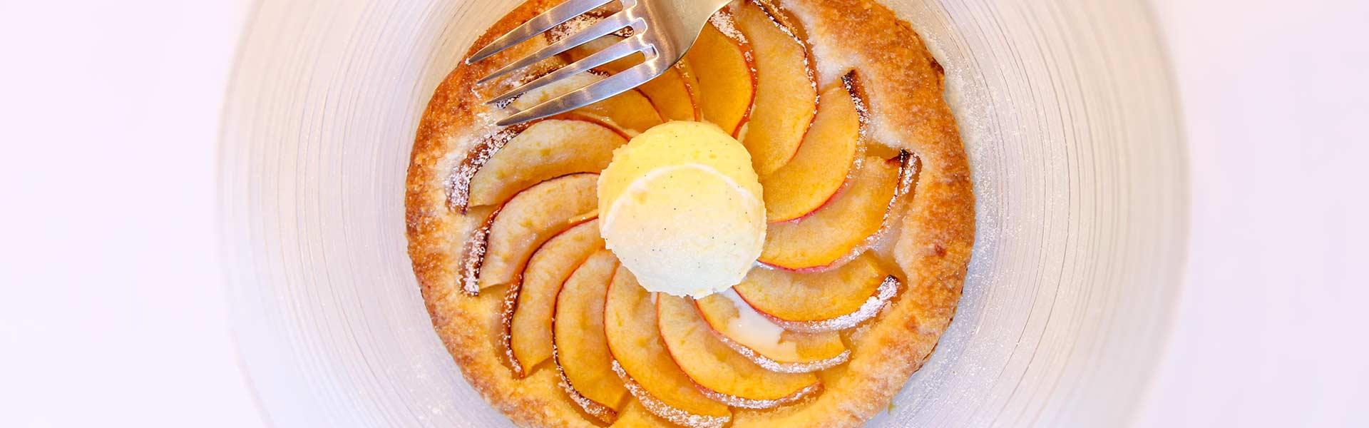 Tartelette aux pommes, glace vanille